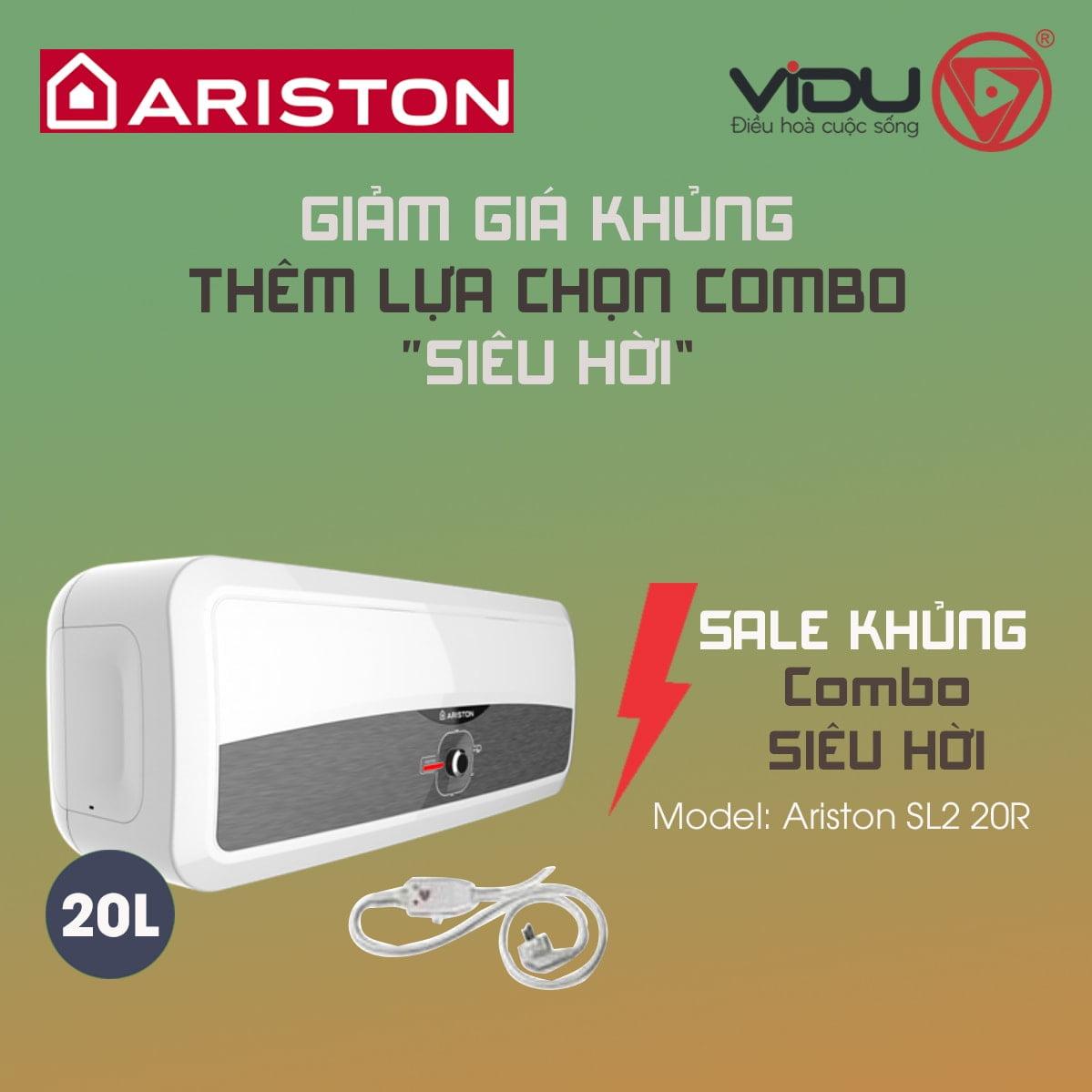 Bình nóng lạnh 20L Ariston SL2 20R