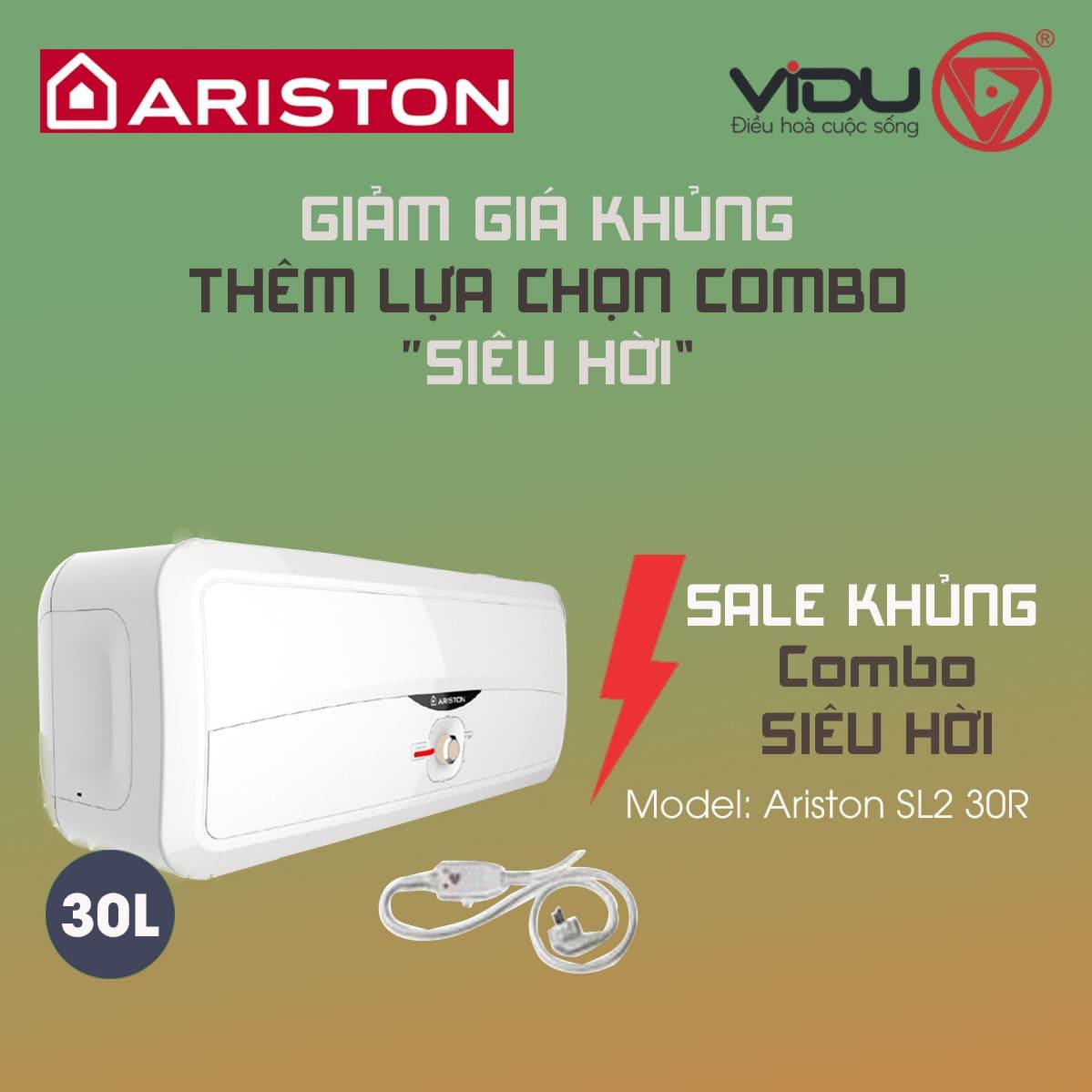 Bình nóng lạnh 30L Ariston SL2 30R