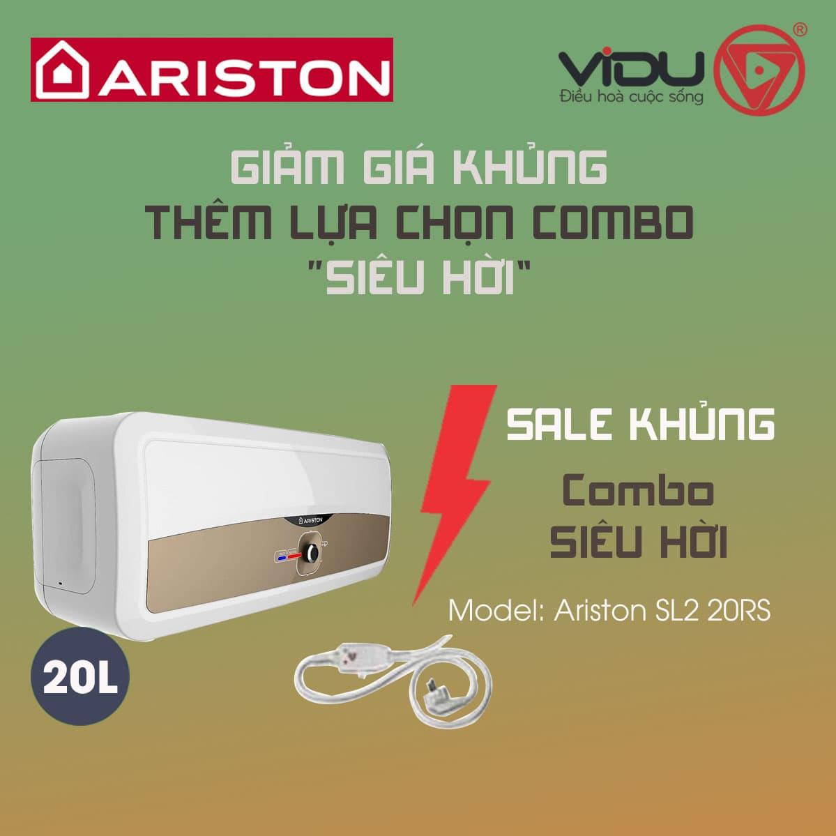 Bình nóng lạnh gián tiếp Ariston 20L SL2 20 RS