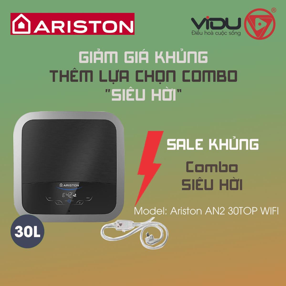 Bình nóng lạnh gián tiếp Ariston 30L AN2 30TOP WIFI