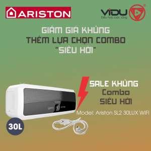 Binh nong lanh gian tiep Ariston 30L SL2 30LUX WIFI