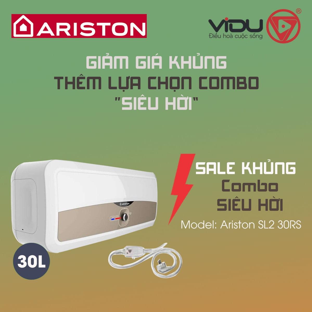 Bình nóng lạnh gián tiếp Ariston 30L SL2 30RS
