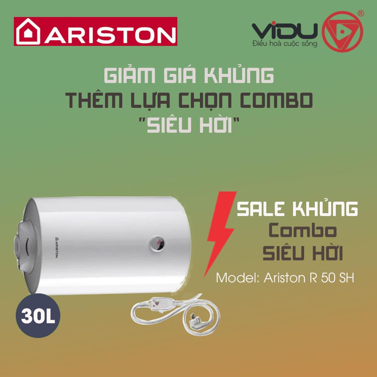 Bình nóng lạnh 50L Ariston Pro R 50 SH 2.5 FE – Bình ngang