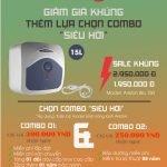 Bình nóng lạnh Ariston BLU 15R 2.5 FE – 15 lít