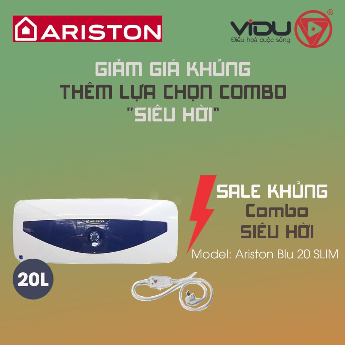Bình nóng lạnh Ariston BLU 20 SLIM 2.5 FE