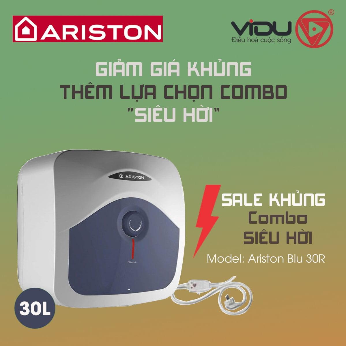 Bình nóng lạnh Ariston BLU 30R 2.5 FE – 30 lít