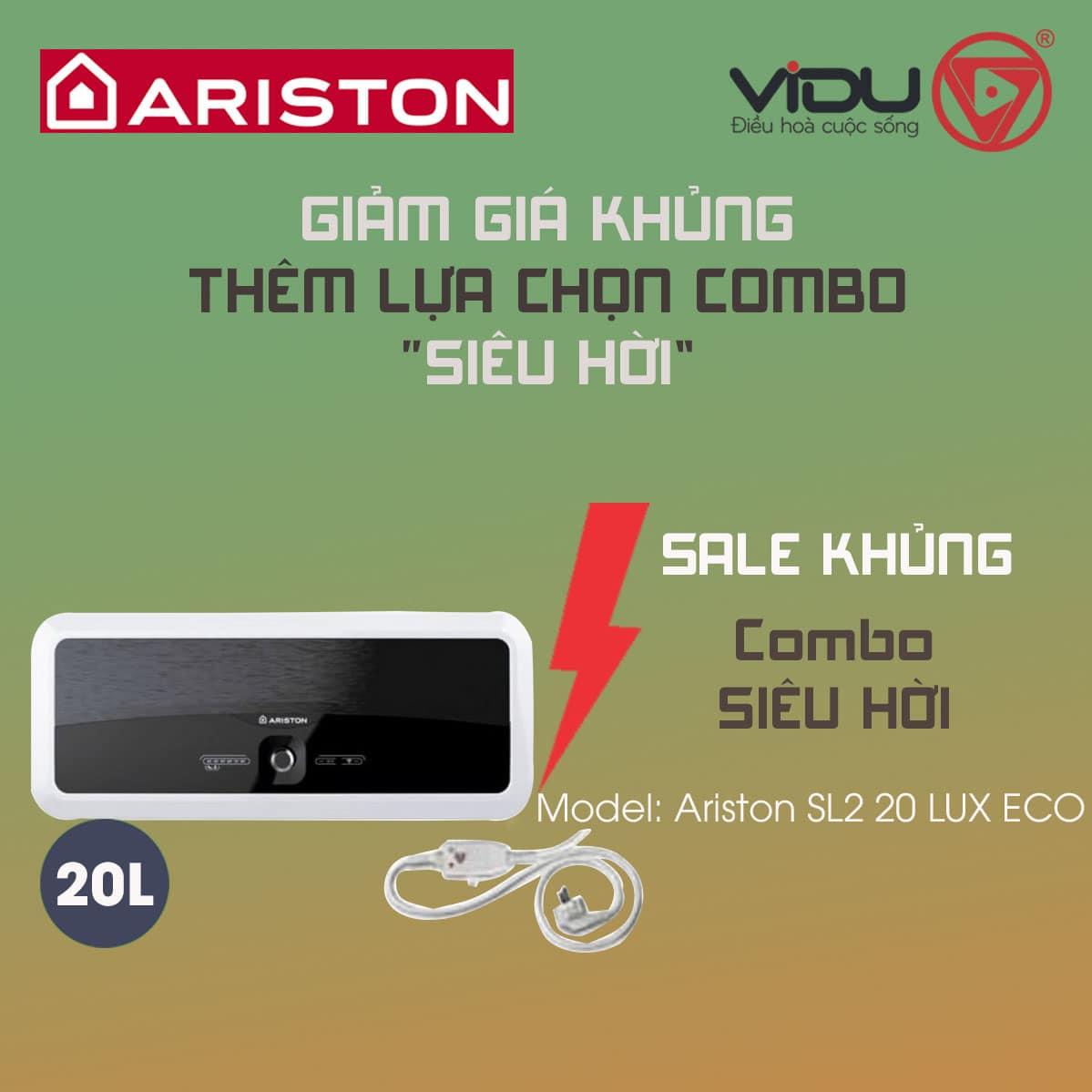 Bình nóng lạnh gián tiếp Ariston 20L SL2 20LUX ECO