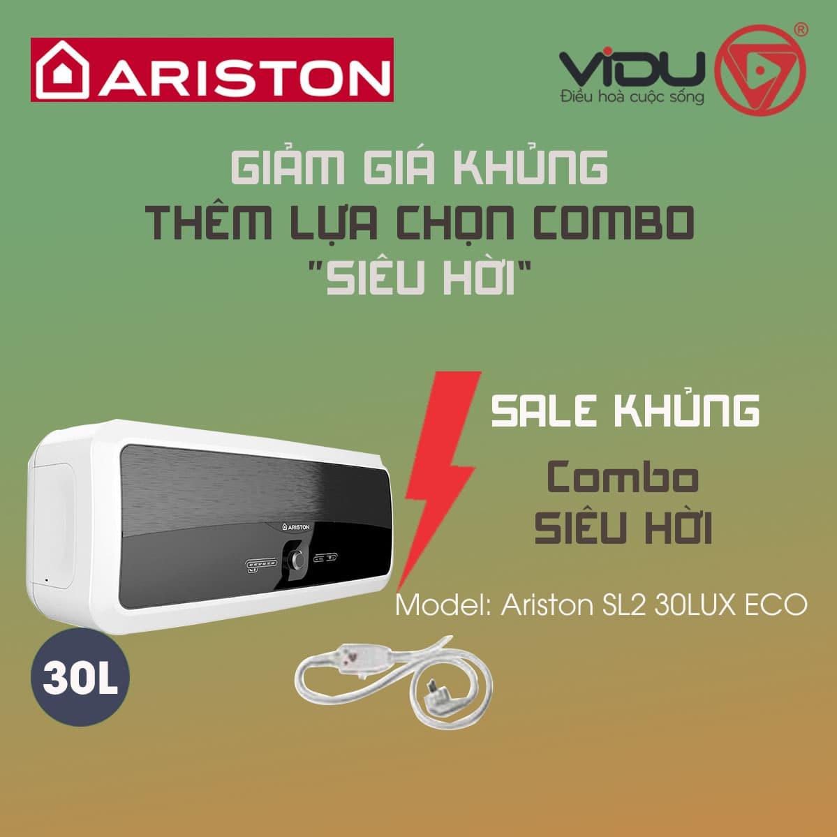 Bình nóng lạnh gián tiếp Ariston 30L SL2 30LUX ECO