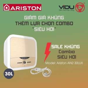Binh nong lanh gian tiep Ariston AN2 30LUX 2.5 FE MT 30 Lit