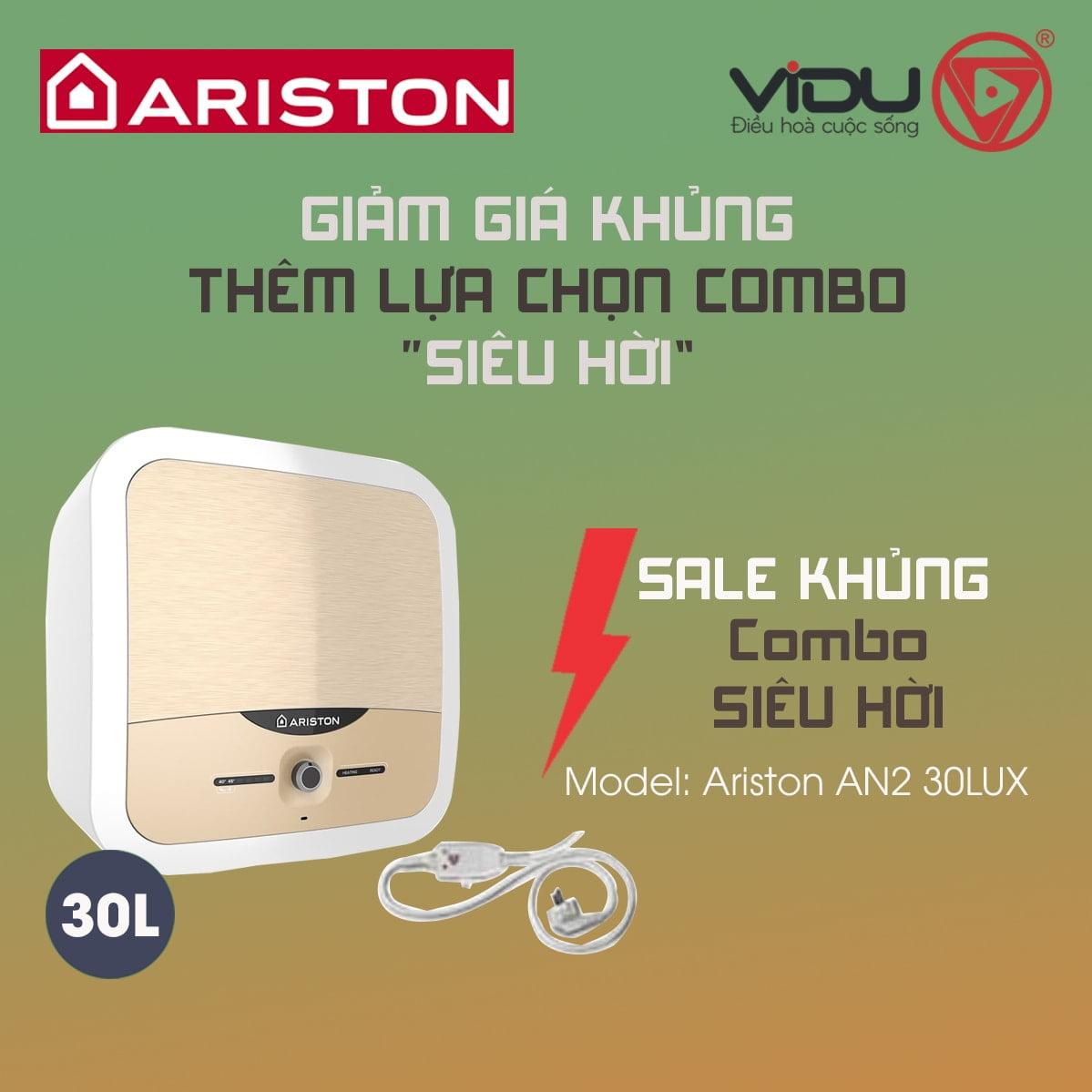 Bình nóng lạnh gián tiếp Ariston AN2 30LUX 2.5 FE-MT 30 Lít
