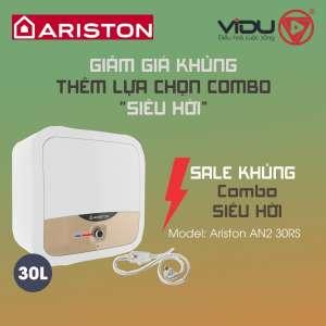 Binh nong lanh gian tiep Ariston AN2 30RS 2.5 FE MT 30 lit